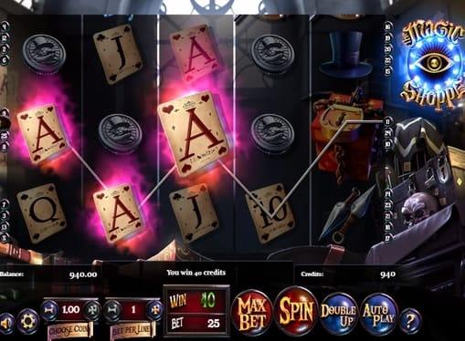 Комбинация символов в игре Magic Shoppe