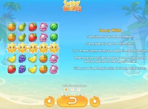 Описание диких знаков в игре Sunny Shores