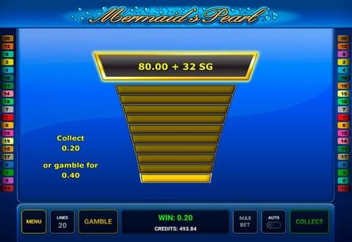 Риск-игра в Mermaid's Pearl