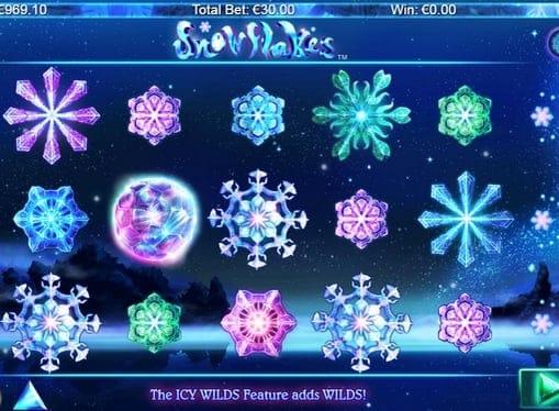 Выигрышные символы в комбинации Snowflakes
